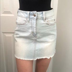 NWT AE Light Wash Denim Skirt